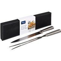 Carving Set In Faux Leather Box