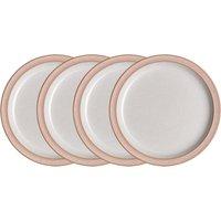 Elements Sorbet Pink 4Pc Medium Plate Set