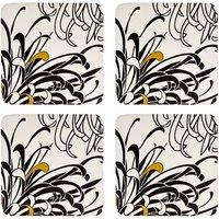 Monsoon Chrysanthemum Cream 4 X Coasters