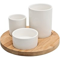 James Martin 4 Piece Sharing Kit With Bamboo Tray