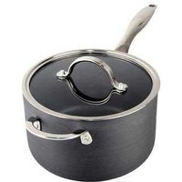 Anodised Saucepan (W/Lid) 20Cm With Help Handle Dishwasher Safe