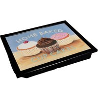 Cupcake Laptray With Black Edge