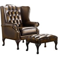 Chesterfield Handmade Mallory Flat Wing Back Armchair Antique…