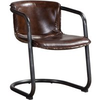 Antique Brown Distressed Leather Chair