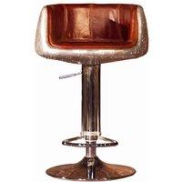 Aviator Vintage Distressed Leather Barstool