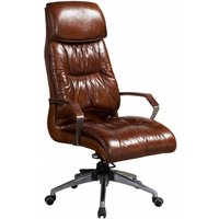 Vintage Distressed Leather Office Chair
