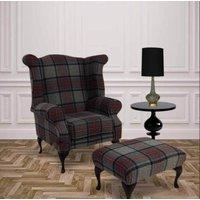 Chesterfield Edward Queen Anne Wool Tweed Wing Chair Fireside…