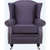 Southwold Wing Chair Fireside High Back Leather Armchair Amethyst…