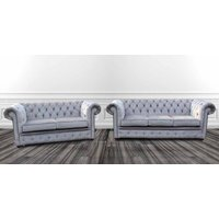Chesterfield 3 Seater + 2 Seater Settee Perla Illusions…