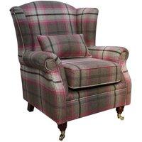 Wing Chair Fireside High Back Armchair Balmoral Fuchsia Pink…