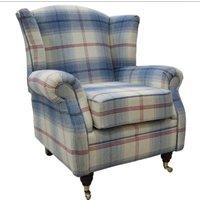 Wing Chair Fireside High Back Armchair Balmoral Royal Blue…
