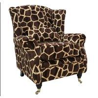 Wing Chair Fireside High Back Armchair Big Giraffe