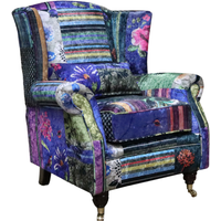 Wing Chair Fireside High Back Armchair London Patchwork…