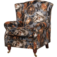 Wing Chair Fireside High Back Armchair Melody Floral Fabric