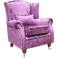 Wing Chair Fireside High Back Armchair Shimmer Amethyst…