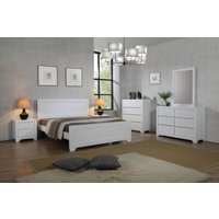 Agata White Solid Wood Frame 4 Foot Bed