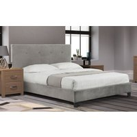 Carina Slate Grey Velvet High Headboard 135cm Bed