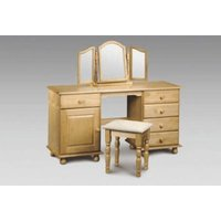 Pickwick Twin Pedestal Dressing Table With Footstool