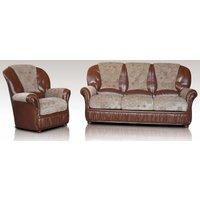 Texas Sofa Set 3+1 Genuine Italian Leather Fabric Sofa Suite Offer