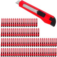 100x Cuttermesser mit Abbrechklingen 9mm