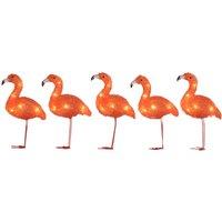 Breng de vakantie naar je achtertuin met dit flamingo lichtsnoer. de flamingo's zijn 12,5 centimeter hoog en ...