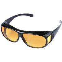 Kijk nu helder in het donker met deze night vision  overzetbrilmet deze bruine night vision overzetbril heeft ...
