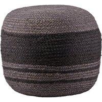 Nieuw in de collectie van bepurehome. trendy ronde poef gemaakt van sisal in de kleur grijs. rondom heeft de ...
