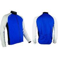 Avento fietsjack windbreaker.  kwaliteit: 100% polyester  kleur: kobalt/wit/zwart  maat xlmodel:  unisex ...