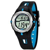 Calypso k5511/2 digitaal kinder horloge met zwart kunststof kast met licht, stopwatch en alarm met ...