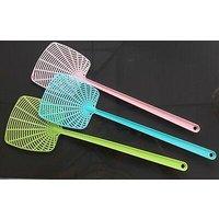 3 vliegenmeppers, in leuke lentekleurtjes, gemaakt van plastic