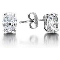 4 Prong Setting Oval Diamond Stud Earrings