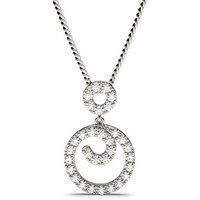 Prong Setting Round Diamond Drop Pendant