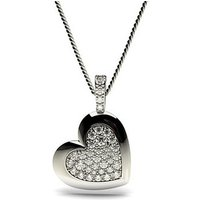 0.25ct. 4 Prong & Pave Setting Round Diamond Delicate Pendant
