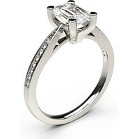 4 Prong Setting Thin Side Stone Engagement Ring