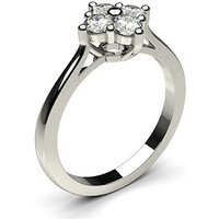 4 Prong Setting Cluster Diamond Ring