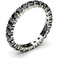 Prong Setting Full Eternity Black Diamond Ring