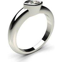 Full Bezel Setting Plain Engagement Ring