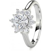 4 Prong Setting Plain Halo Engagement Ring