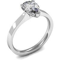 3 Prong Setting Pear Diamond Plain Engagement Ring