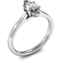 6 Prong Setting Marquise Diamond Plain Engagement Ring