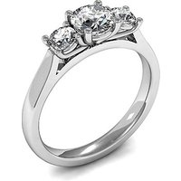 4 Prong Setting Plain Three Stone Ring