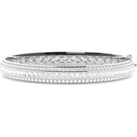 Channel Setting Round & Princess Diamond Bangle