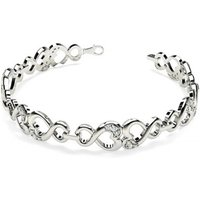 Designer Diamond Bracelet in White Gold with 0.35ct H-I I1 7 inches