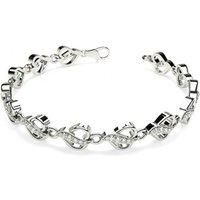 Designer Diamond Bracelet in White Gold with 0.55ct H-I I1 6.5 inches