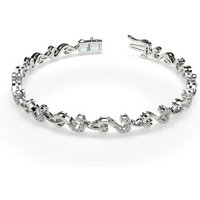 Designer Diamond Bracelet in White Gold with 0.50ct H-I I1 6.5 inches
