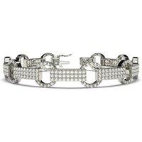 Designer Diamond Bracelet in White Gold with 2.60ct H-I I1 7 inches