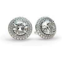 Halo Diamond Earrings White Gold with 0.40ct H I1