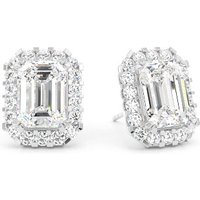 Halo Diamond Earrings White Gold with 1.80ct H SI1