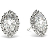 Halo Diamond Earrings White Gold with 0.80ct H SI1