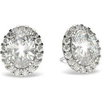 Halo Diamond Earrings White Gold with 0.60ct H SI1